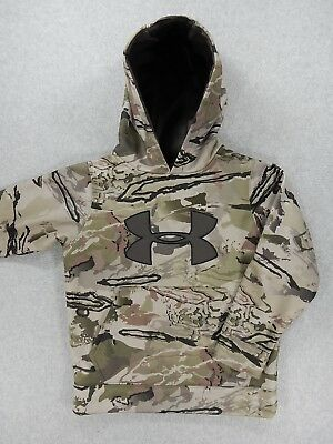 Under Armour Camouflage Loose Fit Hoodie Sweatshirt (Youth Small) Green