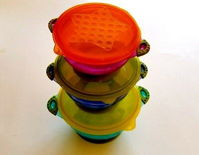 New Lullababy Stay Put & Spill Proof Suction Bowls Toddler Bowls and Lids