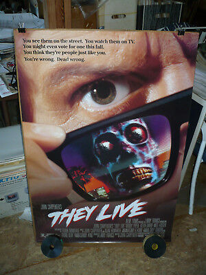 THEY LIVE, NM orig rolled D/S 1-sh / movie poster (Roddy Piper) - John Carpenter