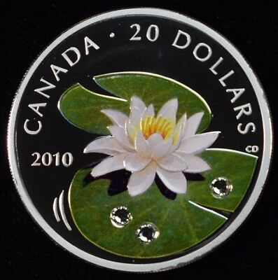 2010 Canada $20 Fine Silver Coin - Water Lily