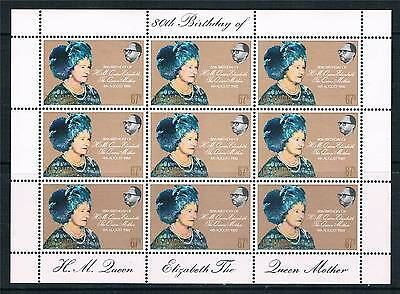 Gambia 1980 80th B/Day of Q Mother SHEET SG 440 MNH