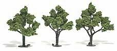 "Woodland Scenics All Scale Trees 4-5"" Light Green (3) 