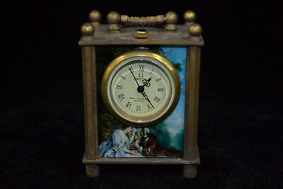 Clock Collectible Copper figure Mechanical armstrong's patent Pocket Watch