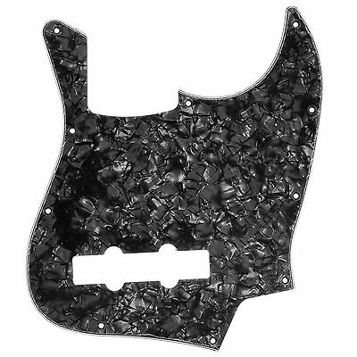 Pearl Black 10 Holes JB Bass Pickguard Scratch Plate for Jazz Bass Style