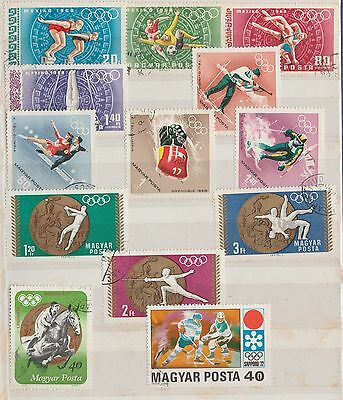 HUNGARY COLLECTION on Album Page 1972 Olympics, etc VFU as per scan #