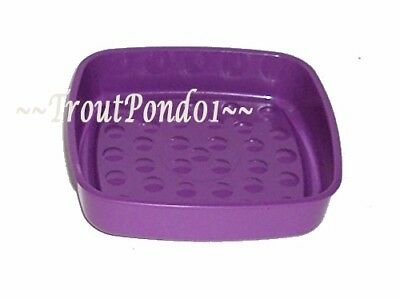New Vtg Tupperware Gadgets Soap Dish Scouring Pad Holder in Purple