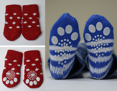 Brand New SD BJD Cat Paw Socks for dolls with feet 7-8cm long Red Dot style