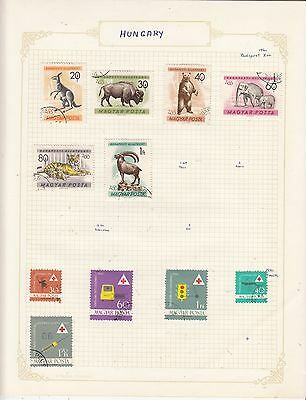 HUNGARY 1961 On Album Page Mostly VFU Items(d) removed for Shipping