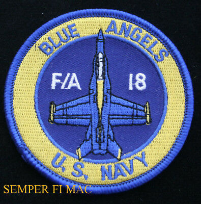 Us Navy Blue Angels Shoulder Hat Patch Uss Nas Pensacola F-18 Marines Flightsuit