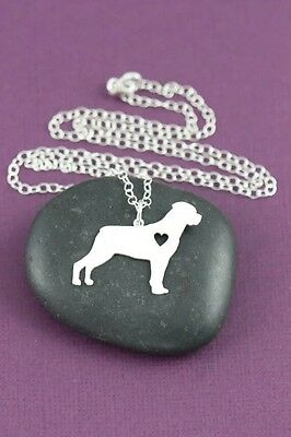Rottweiler standing pendant necklace dog collectible No.70