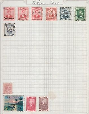 PHILLIPINES ISLANDS Collection  Marcelo, Rizal, Burgos, etc USED as per scan #