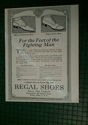 REGAL SHOES  ad page 1917 for military soldier