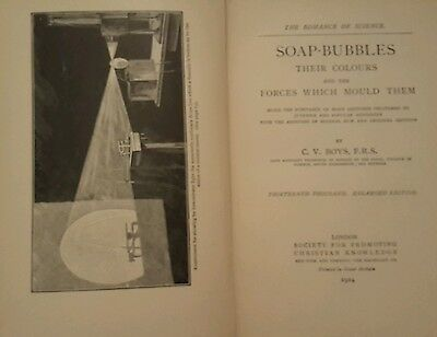 1924 Romance of Science SOAP BUBBLES Colors Forces Experiments Illustrated book