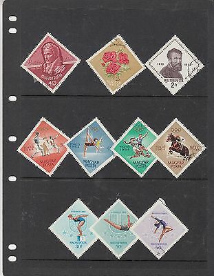 HUNGARY Collection Includes OLYMPIC /SPORT/ ETC.. fine used