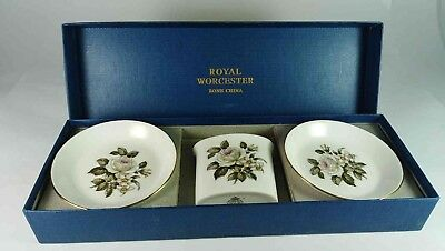 Royal Worcester Toothpick Holder & Pin Dishes X 2