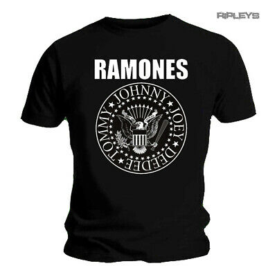 Official T Shirt THE RAMONES Classic SEAL Bold Logo  Black All Sizes