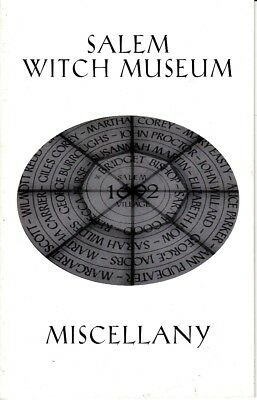 Salem Witch Museum Miscellany Massachusetts MA Booklet
