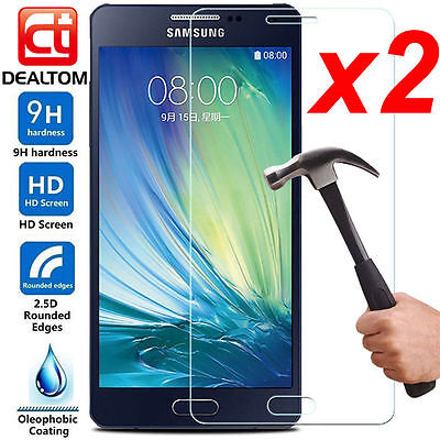 1/2X 9H+ Tempered Glass Screen Protector F Samsung Galaxy A3 A5 A7 2016 / 2017