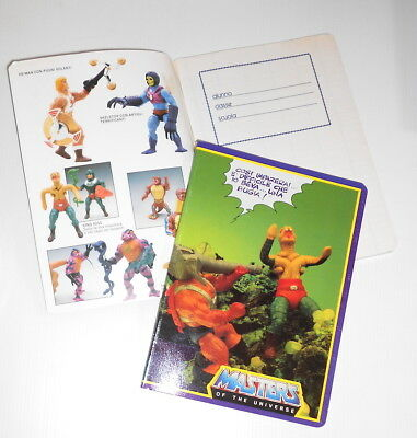 MASTERS OF THE UNIVERSE 1987 Mattel italy school notebook - quaderno scuola