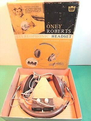 Roberts Stereophonic headset vintage headphones 54-55 wi Balance controls,tested