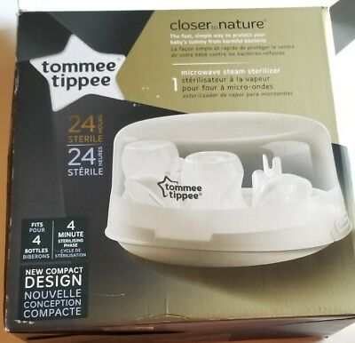 New Tommee Tippee Microwave Steam Sterilizer for Baby Bottles