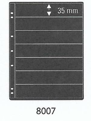 PRINZ PRO-FIL 7 STRIP BLACK STAMP ALBUM STOCK SHEETS Pack of 5 Ref No: 8007