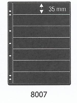 PRINZ ProFil 7 STRIP BLACK STAMP ALBUM STOCK SHEETS Pack of 5 Ref No: 8007