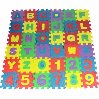 Educational Kids Learning Gift Play Game Alphanumeric Number 36pcs Child Toy