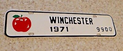 1971 Winchester Virginia License plate topper tax with Red Apple NOS New # 9900