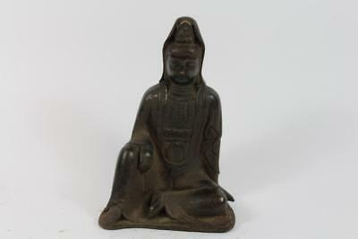 Skulptur Bronze Guanyin sign. China