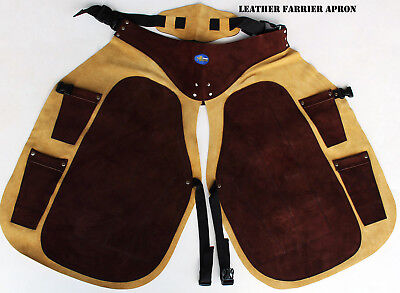 Pro Rider Western Leather Fully Adjustable Equine Farrier Apron Fits ALL 23116