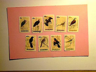 BAHAMAS: 1991 Birds 9vals to $1.00 F/used btwn Sg892/904