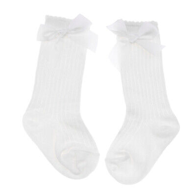 Baby Girls Spanish Style Knee High Socks Bow Girl Toddlers Romany Ribbed 0-4T
