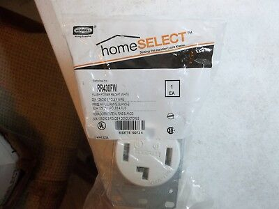 Hubbell Home Select 30A 3 Range Dryer Receptacle RR430F Sealed In Package