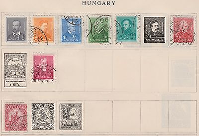 HUNGARY Collection People etc, on Old pages, as per scan #