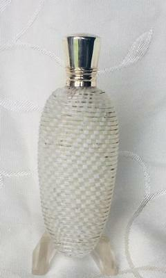 Rare Antique Clichy Filigrana Perfume Scent Bottle Silver Lid C1880