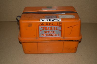 """++ BOEING CLASS C OPTICAL INSTRUMENT CASE APPROX DIMENSIONS 14 1/2""""x10""""x9"""""""