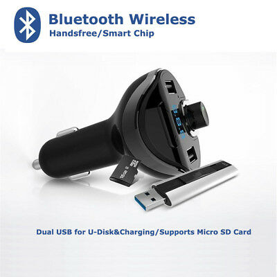 Bluetooth FM Transmitter Wireless MP3Player Car Kit Charger For iPhone6 Dual USB