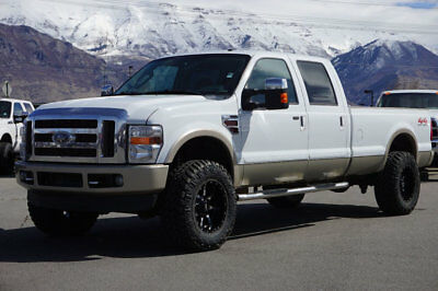 Ford Super Duty F-350 KING RANCH Lifted Ford Crew Cab King Ranch 4X4 Powestroke Diesel Longbed Leather Nav Roof