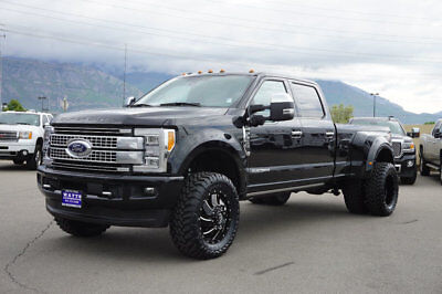 Ford Super Duty F-350 Platinum FX4 LIFTED FORD CREW CAB DUALLY PLATINUM 4X4 POWERSTROKE DIESEL CUSTOM WHEELS TIRES