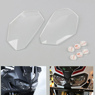 Front Headlight Lens Covers Guard For Honda CRF1000L Africa Twin 2016-2017 Clear
