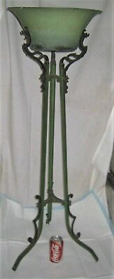 Antique Verona Usa Garden Home Flower Wrought Iron Plant Fern Stand Roseville Us