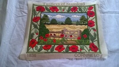 Completed Tapestry Of Poppies  Called Cornfield