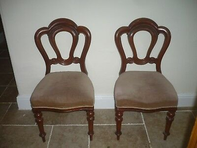 Pair of Antique quality heavy rosewood ornate chairs suit Hall/Sitting Room