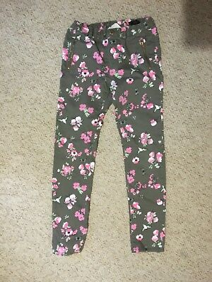 Girls floral summer trousers. Age 9-10 years