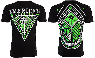 AMERICAN FIGHTER Mens T-Shirt ABERDEEN Athletic BLACK Biker Gym MMA UFC $40