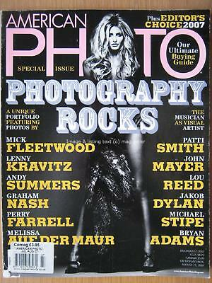 American Photo Special Issue July August 2007 Lenny Kravitz Patti Smith Lou Reed