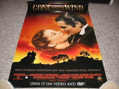 Gone With The Wind Poster Vivian Leigh Clark Gable Havilland Hattie Butterfly