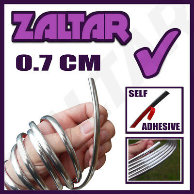 voiture CHROME Styling Strip 0.7 cm 7mm autocollant 3M bande détail bord bande