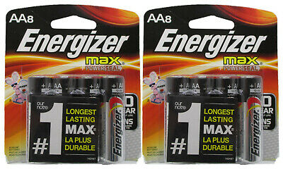 16 Energizer AA Max Alkaline + Powerseal 1.5V Batteries On Card 2027